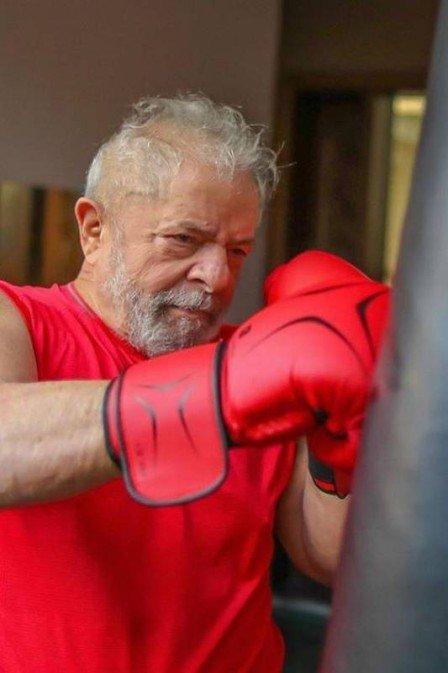 Lula treina boxe para manter a forma na quarentena Foto: Ricardo Stuckert